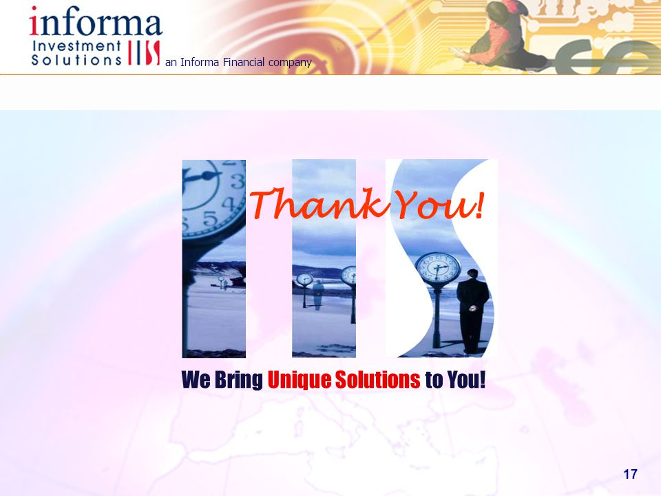 Thank You! We Bring Unique Solutions to You!