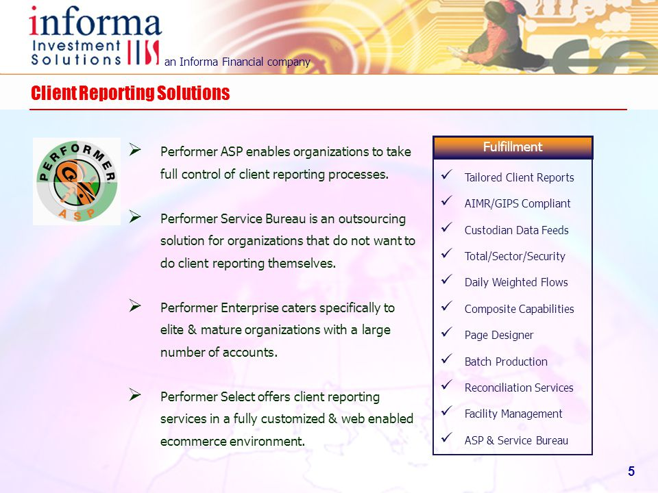 Client Reporting Solutions