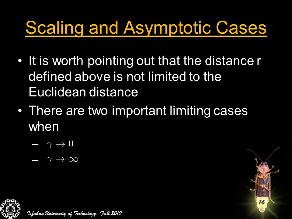 Scaling and Asymptotic Cases