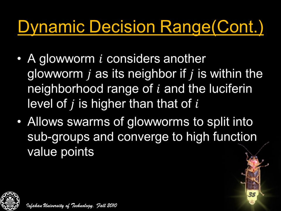 Dynamic Decision Range(Cont.)