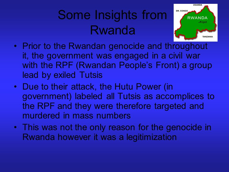 Some Insights from Rwanda