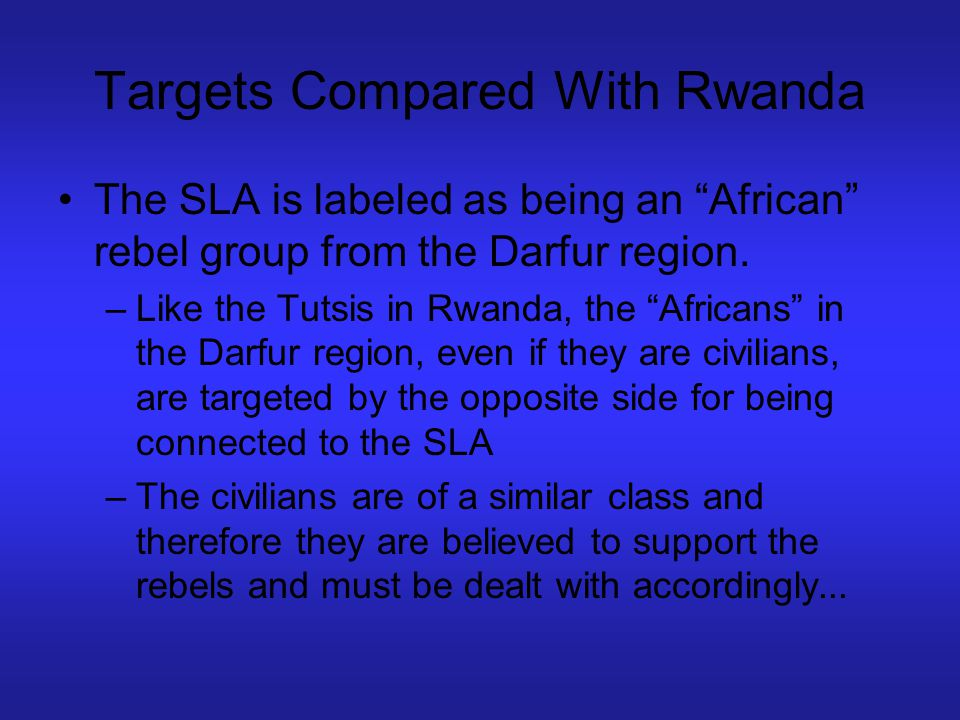 Targets Compared With Rwanda