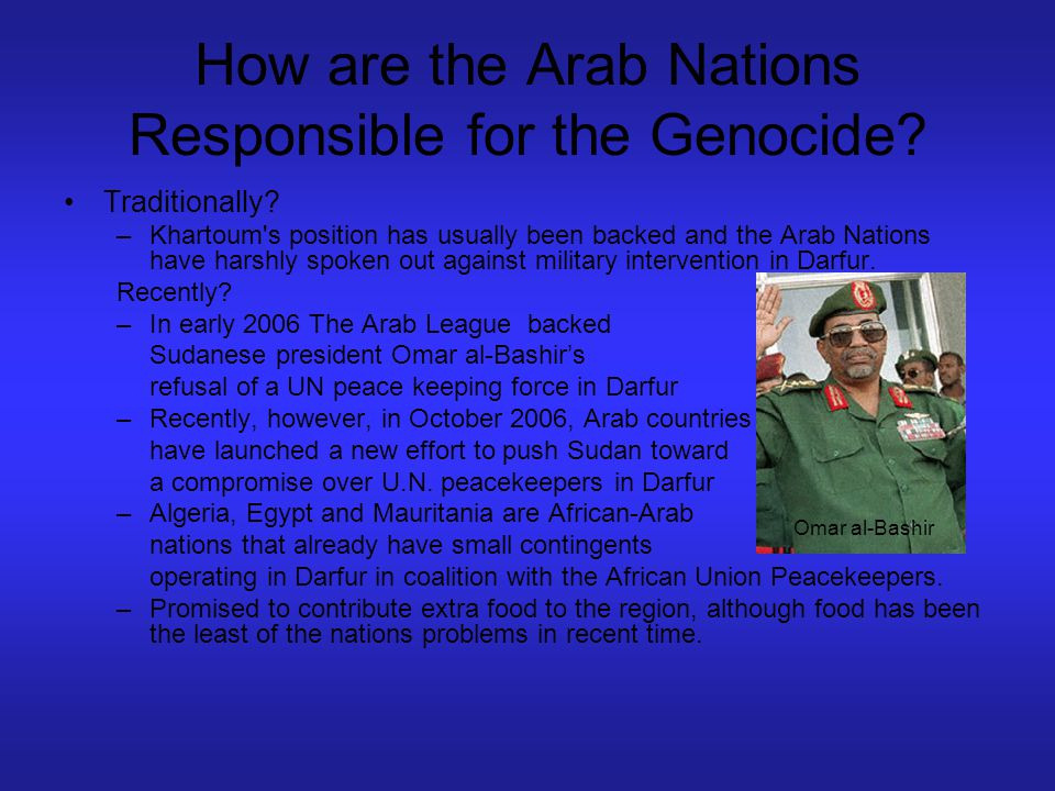 How are the Arab Nations Responsible for the Genocide