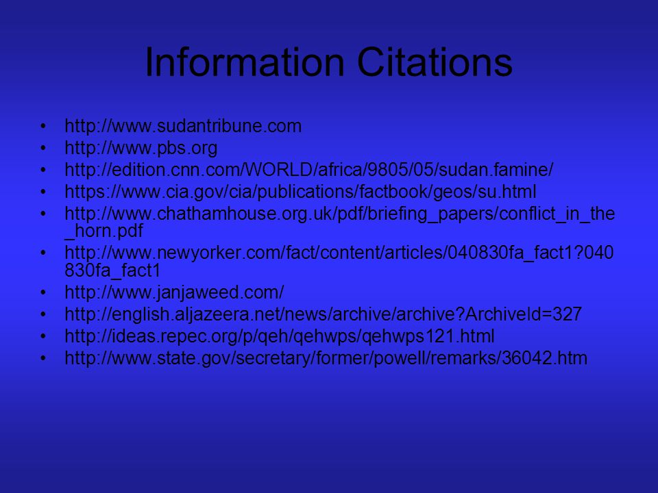 Information Citations