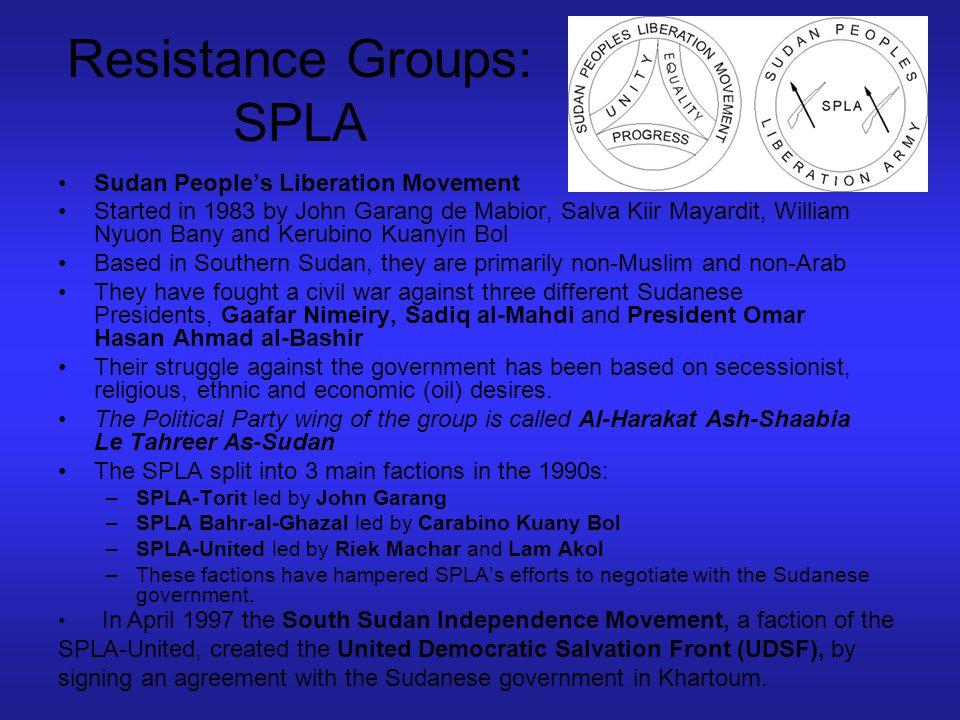 Resistance Groups: SPLA