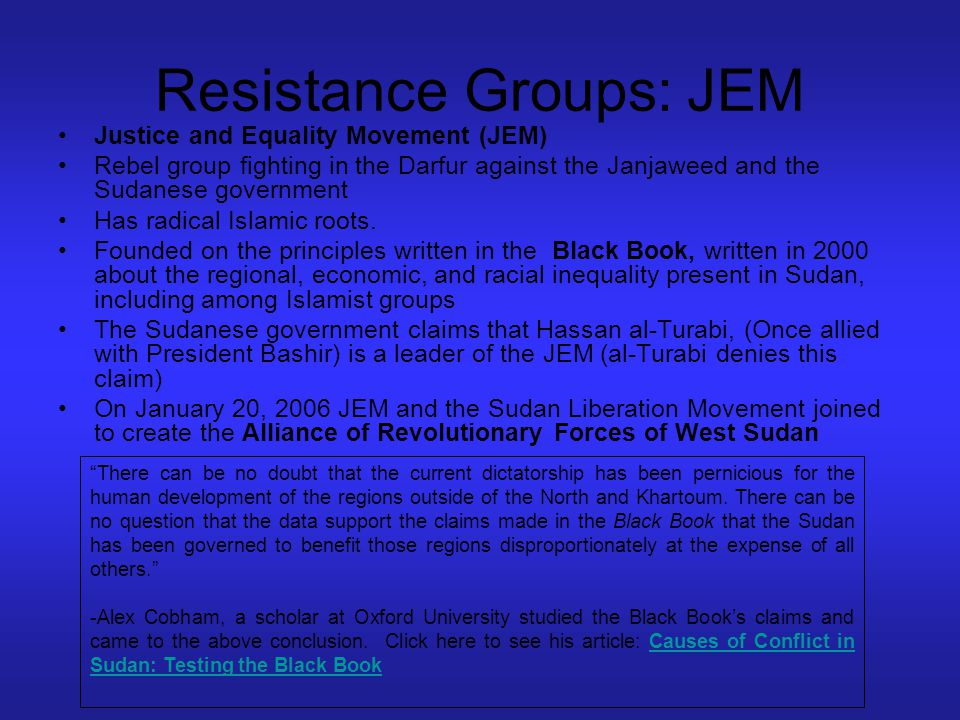 Resistance Groups: JEM
