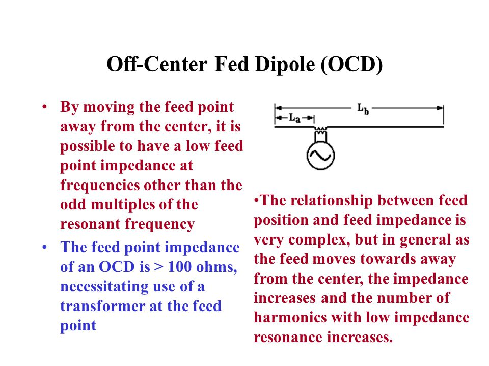 Off-Center Fed Dipole (OCD)