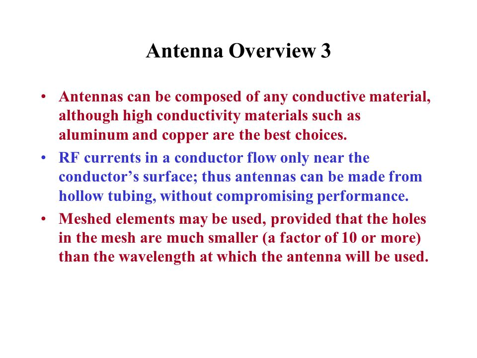 Antenna Overview 3