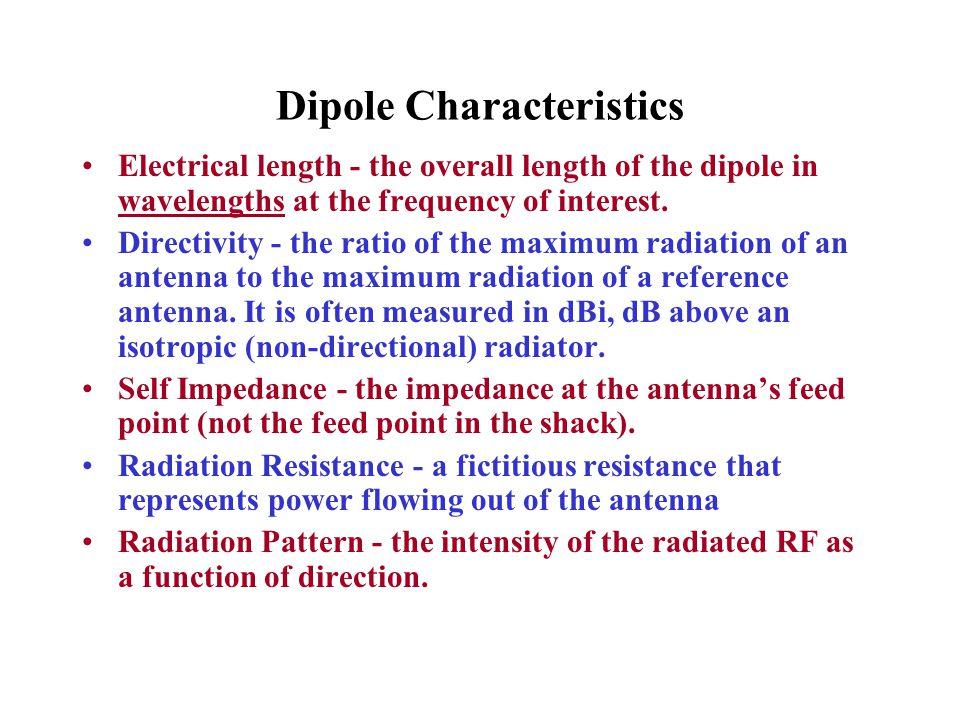 Dipole Characteristics