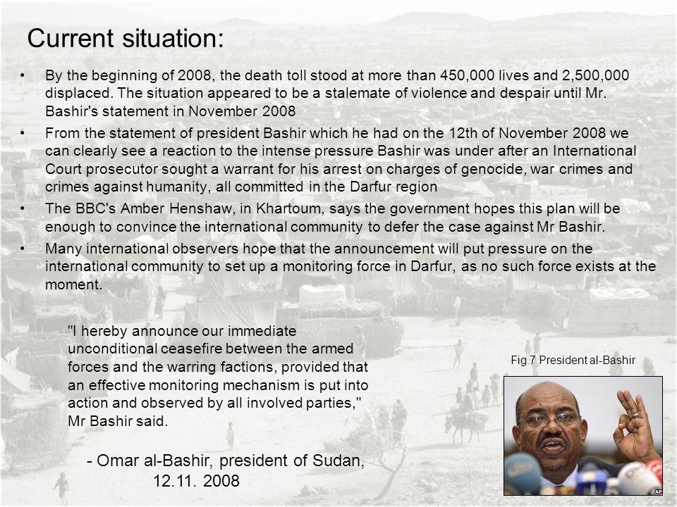 Current situation: - Omar al-Bashir, president of Sudan, 12.11. 2008