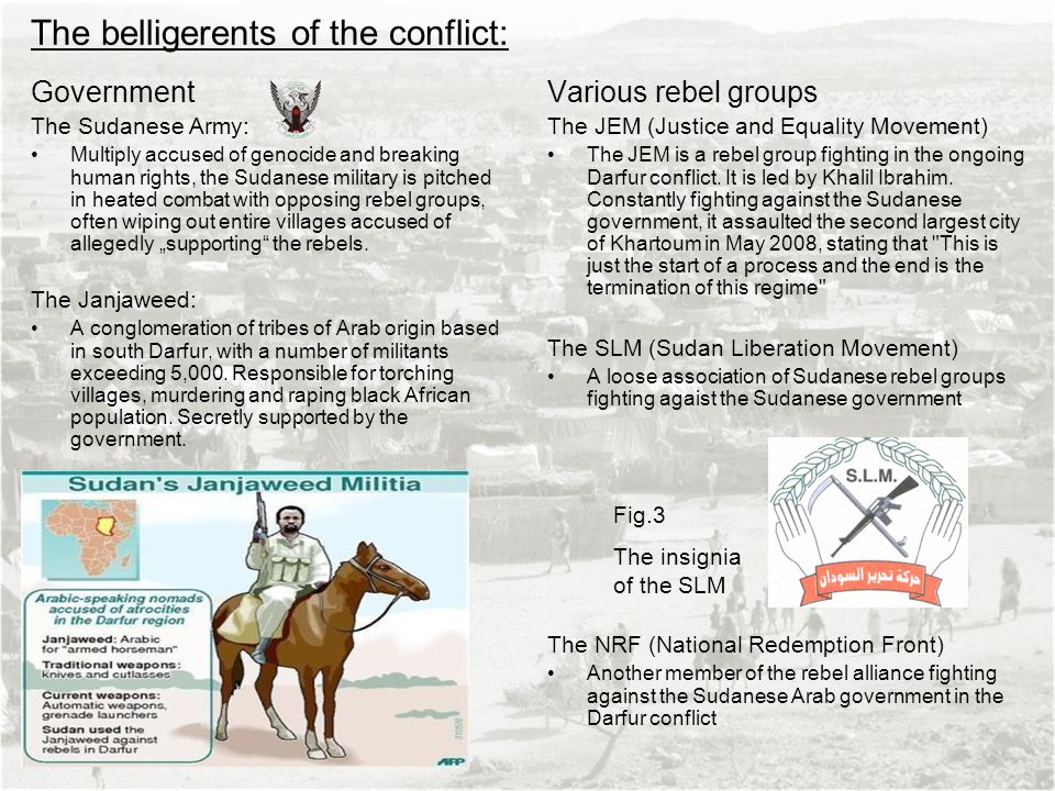 The belligerents of the conflict: