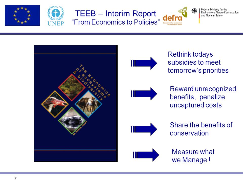 TEEB – Interim Report From Economics to Policies