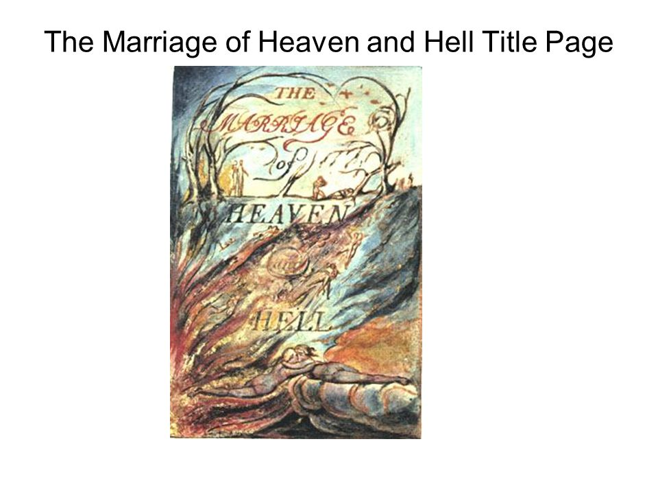 The Marriage of Heaven and Hell Title Page