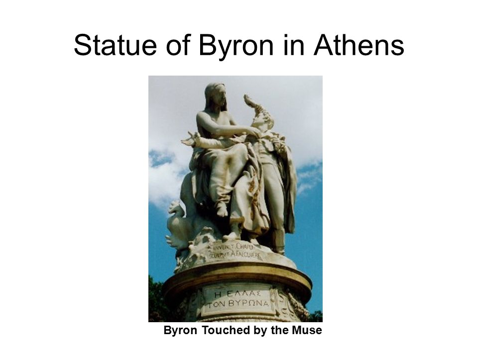 Statue of Byron in Athens