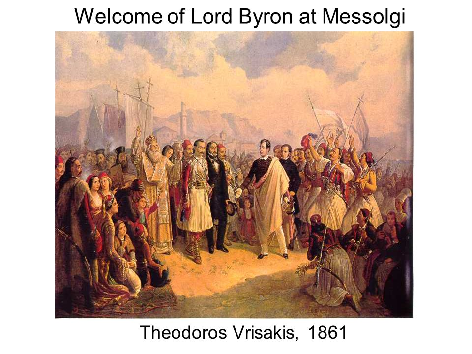 Welcome of Lord Byron at Messolgi