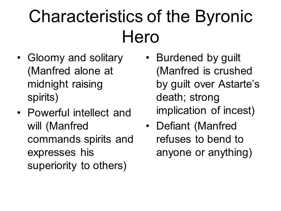 romantic hero characteristics