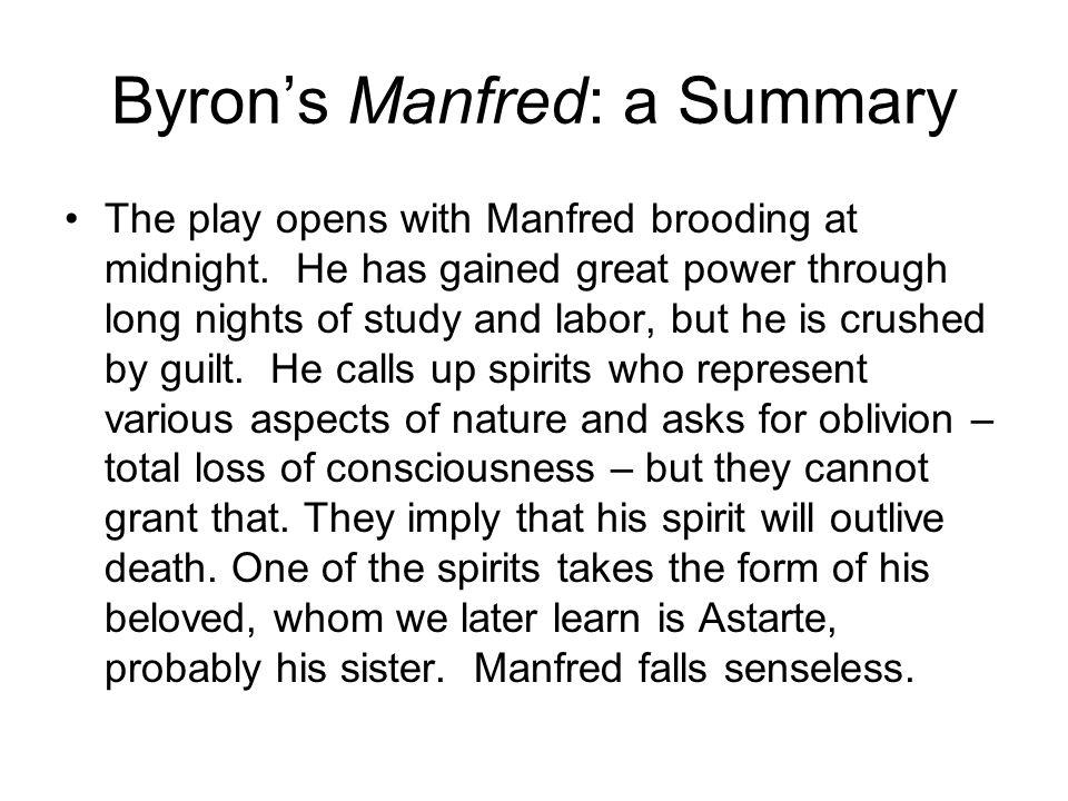 Byron's Manfred: a Summary