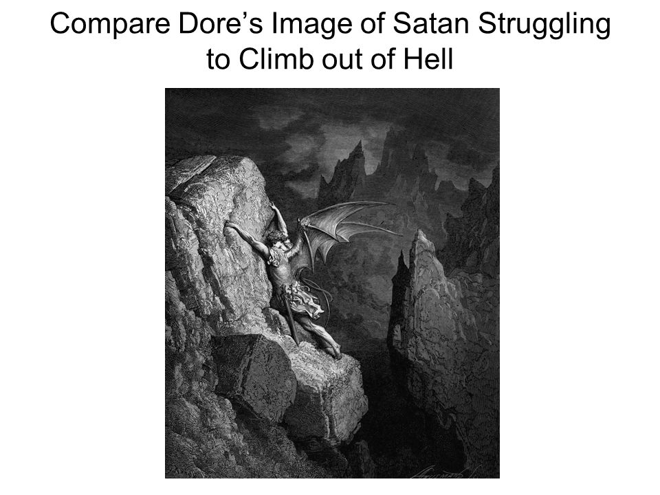 Compare Dore's Image of Satan Struggling to Climb out of Hell