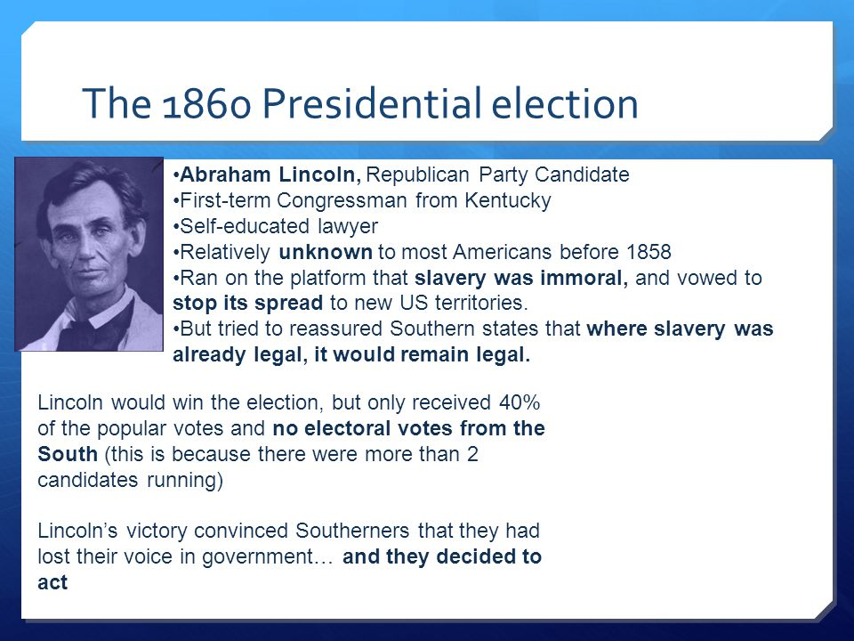 The 1860 Presidential election