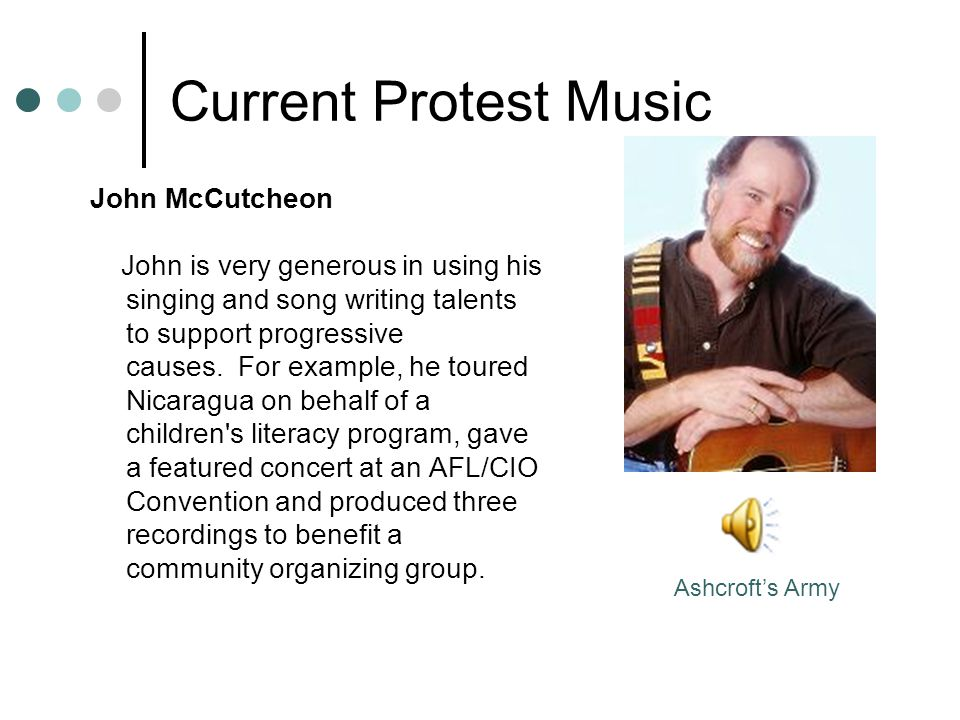 Current Protest Music John McCutcheon