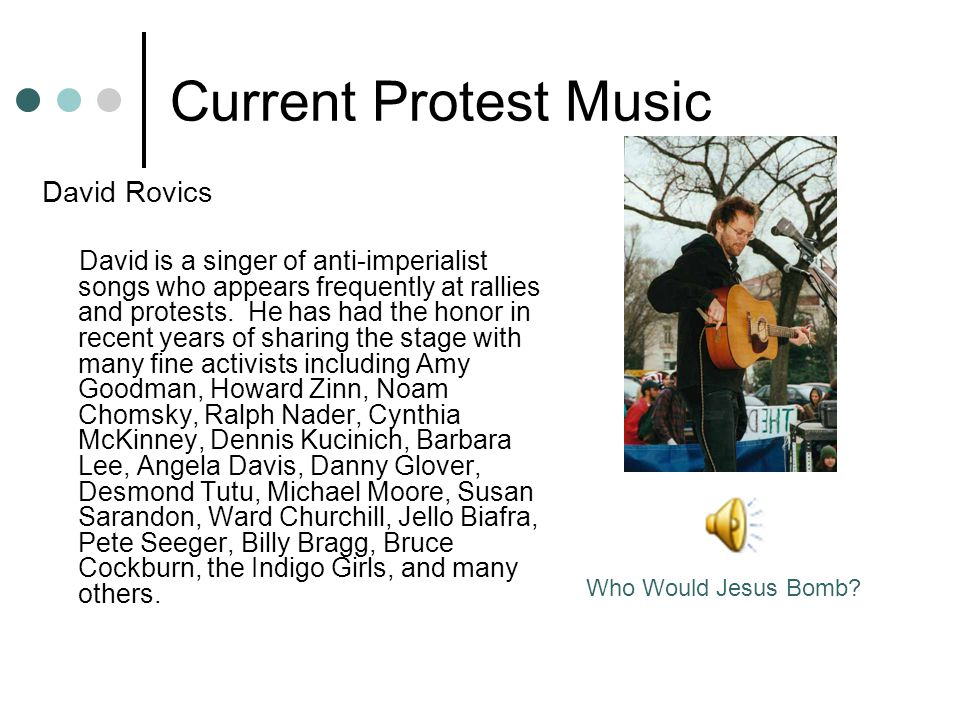 Current Protest Music David Rovics