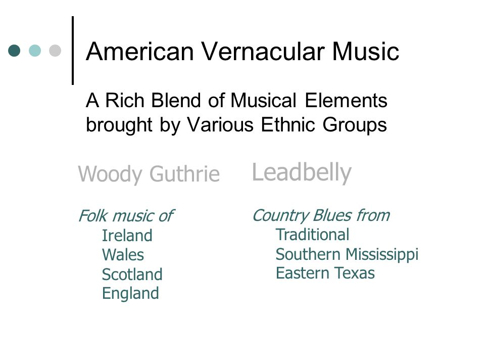 American Vernacular Music
