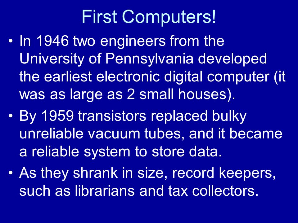 First Computers!