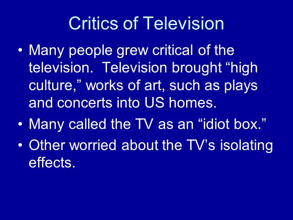 Critics of Television