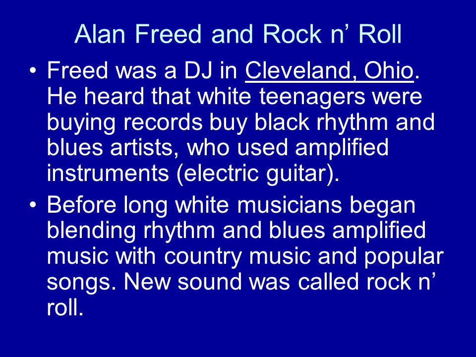 Alan Freed and Rock n' Roll