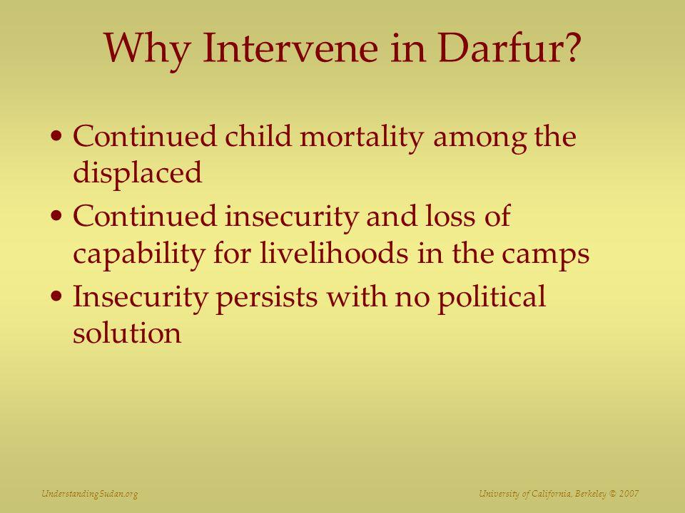 Why Intervene in Darfur