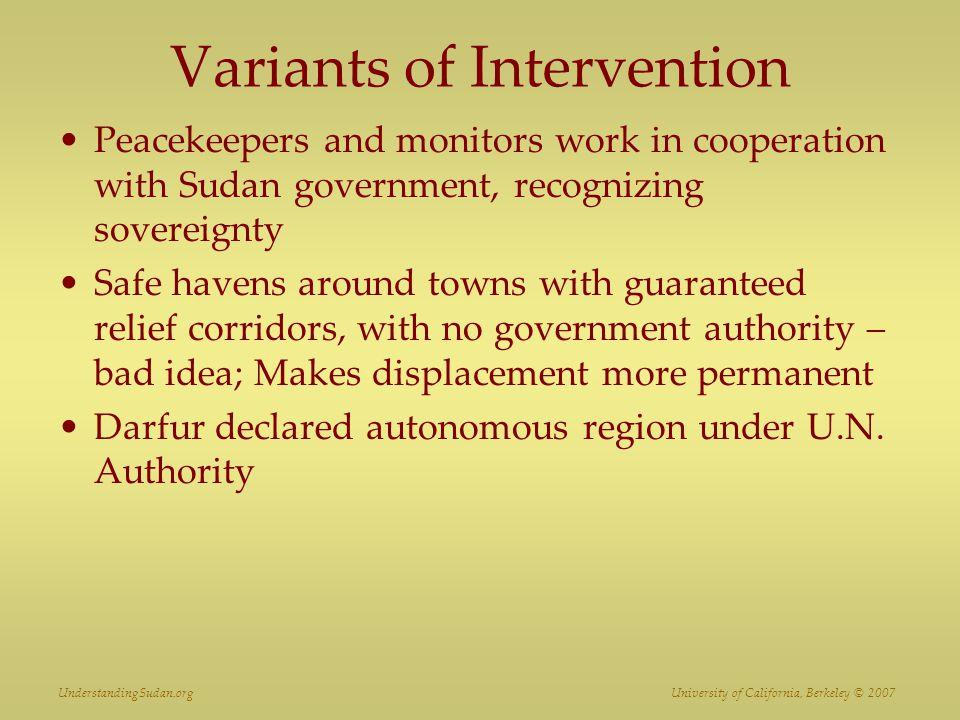 Variants of Intervention