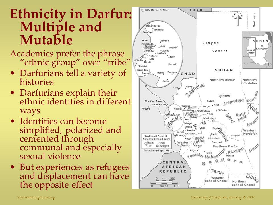 Ethnicity in Darfur: Multiple and Mutable