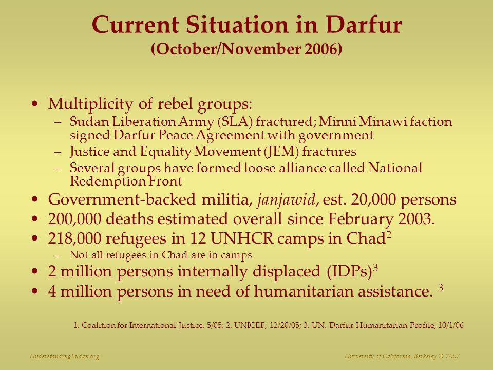 Current Situation in Darfur (October/November 2006)