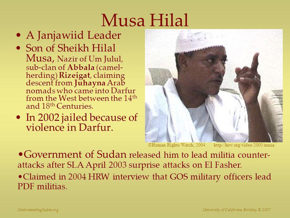 Musa Hilal A Janjawiid Leader