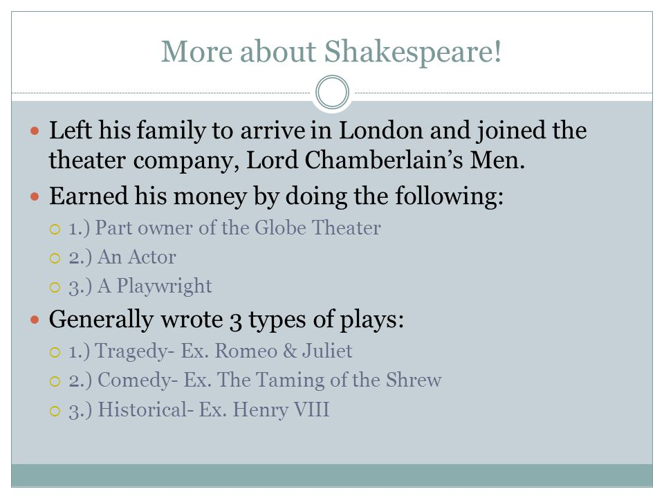More about Shakespeare!