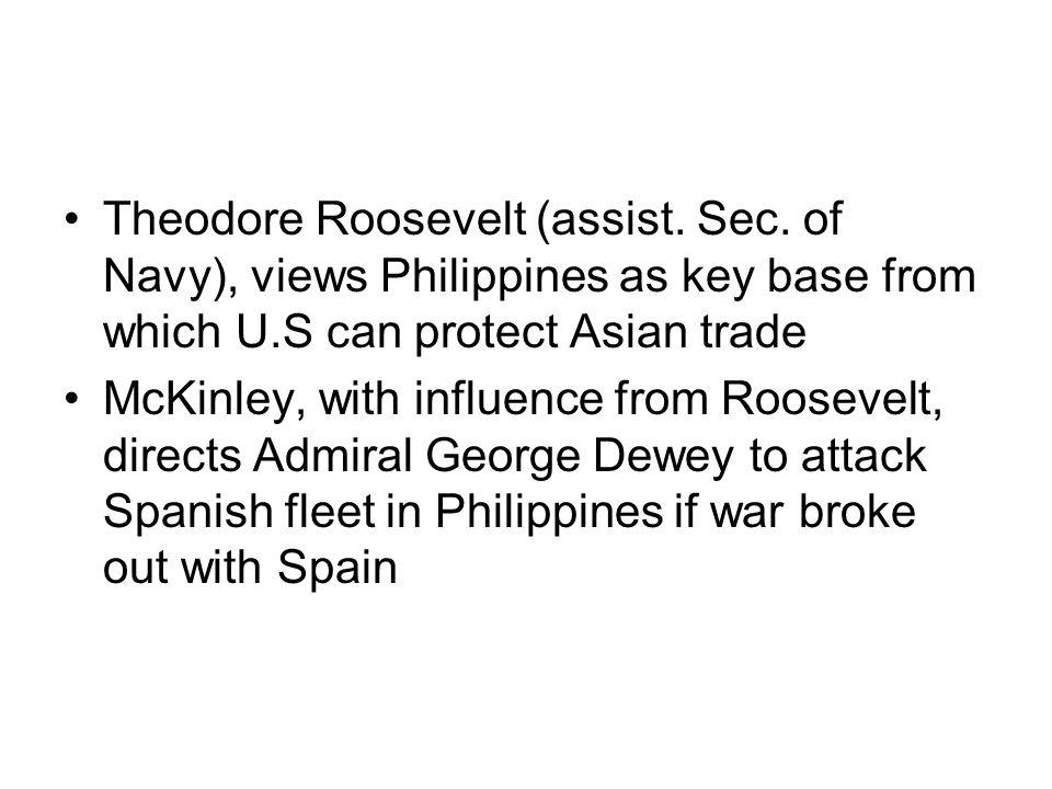 Theodore Roosevelt (assist. Sec