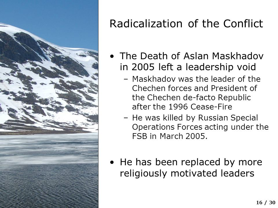 Radicalization of the Conflict