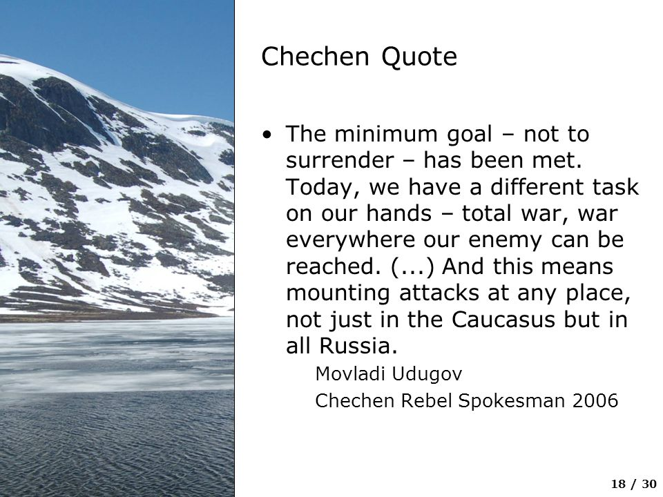 Chechen Quote