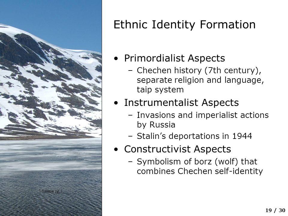 Ethnic Identity Formation
