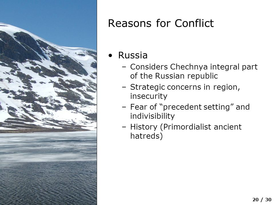 Reasons for Conflict Russia