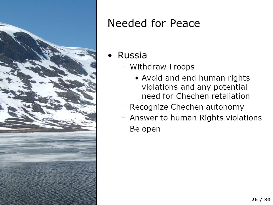 Needed for Peace Russia Withdraw Troops