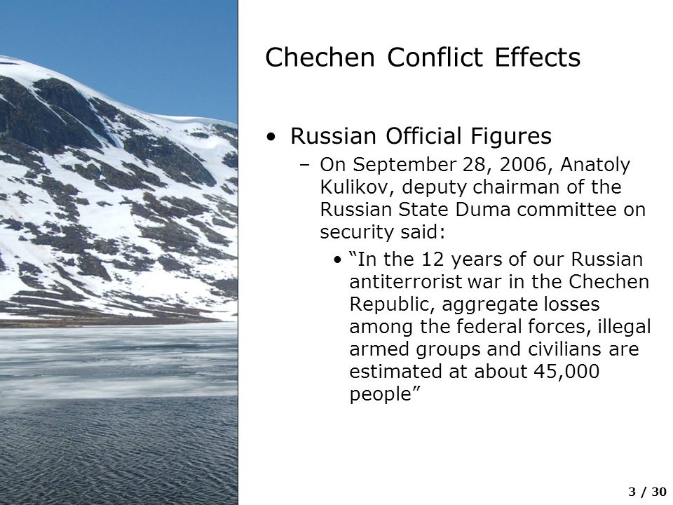 Chechen Conflict Effects