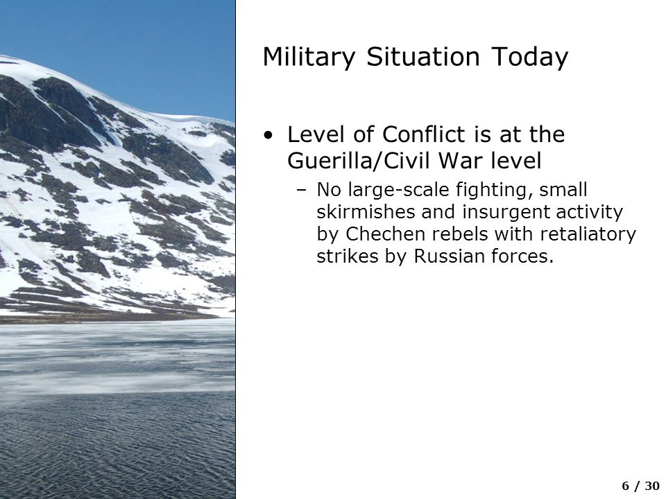 Military Situation Today