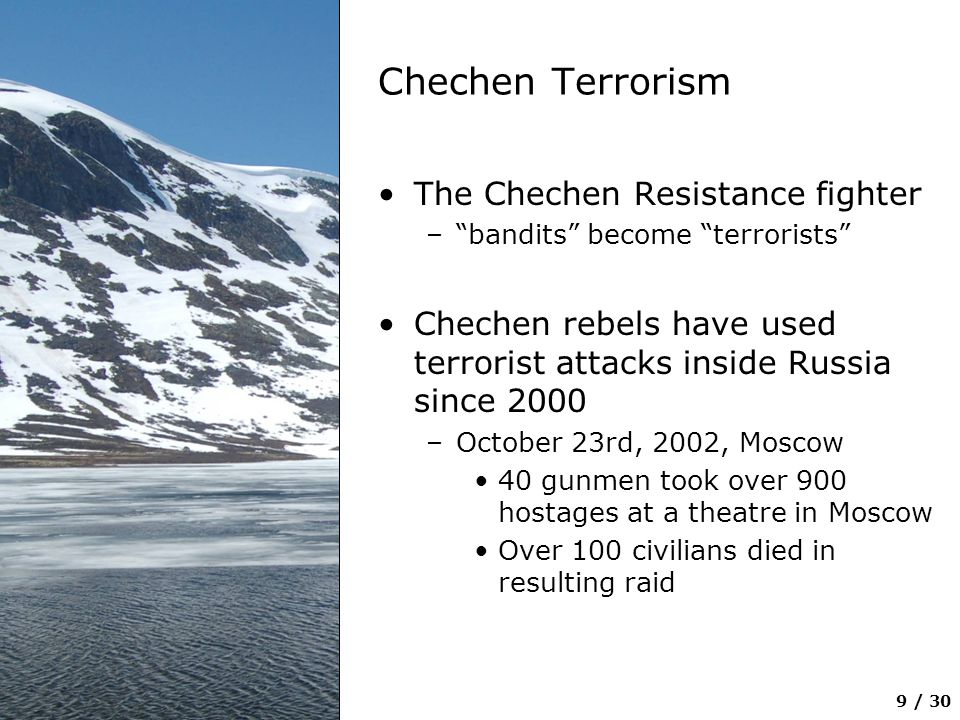 Chechen Terrorism The Chechen Resistance fighter