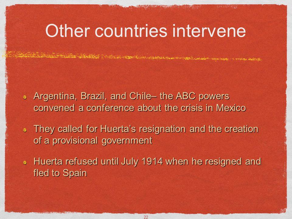 Other countries intervene