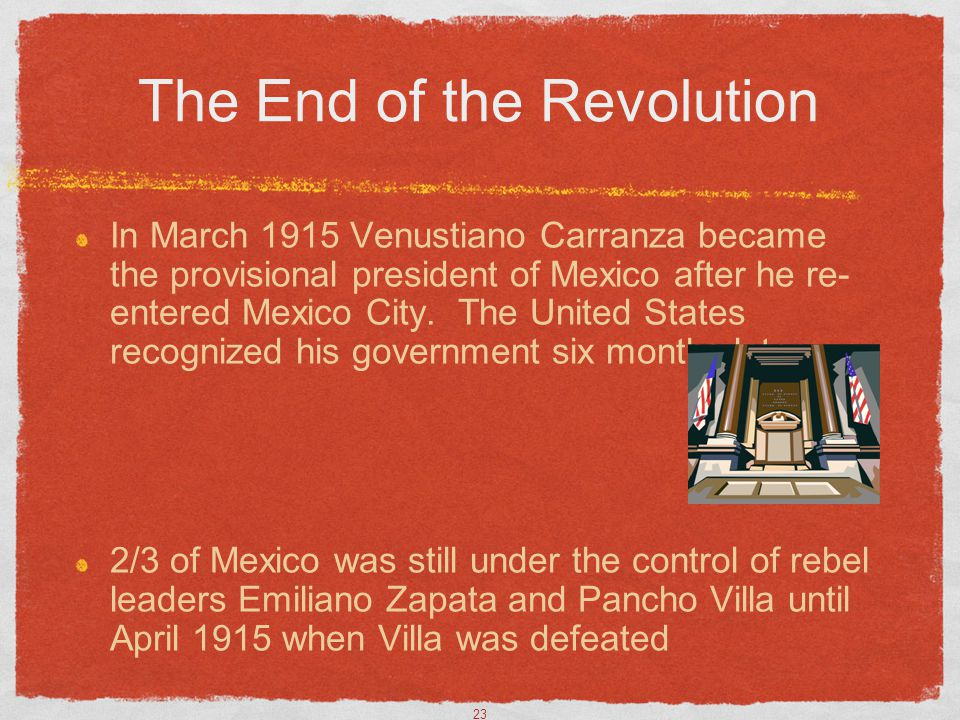 The End of the Revolution