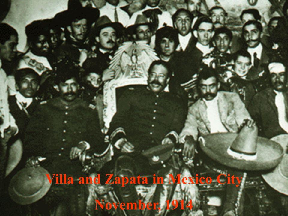 Villa and Zapata in Mexico City