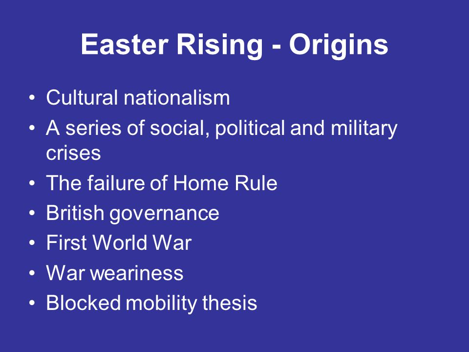 Easter Rising - Origins