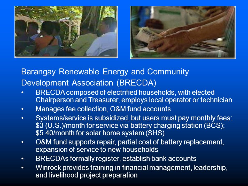 Barangay Renewable Energy and Community