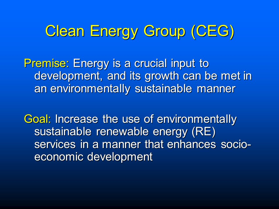 Clean Energy Group (CEG)